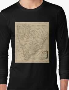 American Revolutionary War Era Maps 1750-1786 151 A new and accurate map of the province of South Carolina in North America Long Sleeve T-Shirt