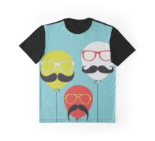 Mustaches Balloon Graphic T-Shirt