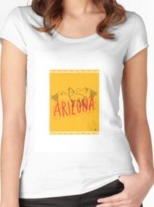 Arizona Desert Women's Fitted Scoop T-Shirt