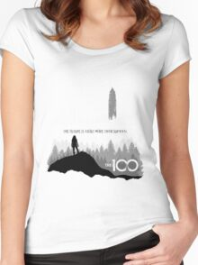The 100 - The Future Is About More Than Survival Women's Fitted Scoop T-Shirt
