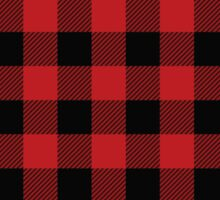 Lumber Jack Hipster Plaid Cell Case Sticker