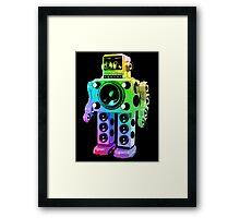 Boombox Robot Framed Print