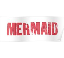 Mermaid (Red) Poster