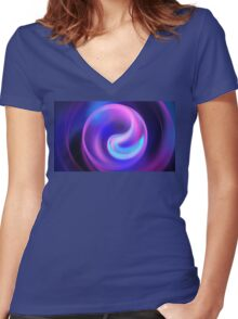 Pink Night Women's Fitted V-Neck T-Shirt