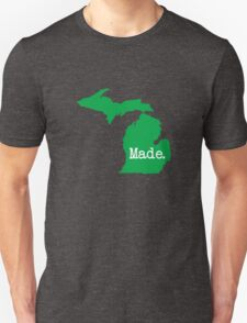 Michigan Home MI Pride Detroit Made Green Unisex T-Shirt