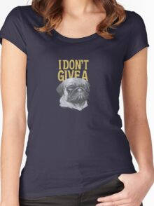 I Don't Give a Pug Women's Fitted Scoop T-Shirt