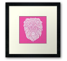 Pink Lion Framed Print
