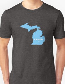 Michigan Transplant MI Detroit Blue Unisex T-Shirt
