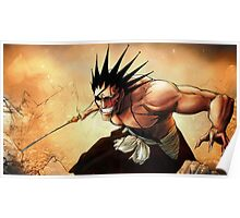 Kenpachi Zaraki fighting Poster