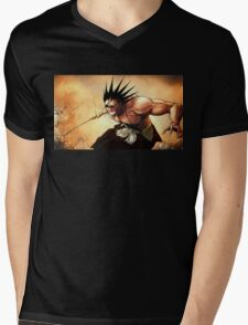 Kenpachi Zaraki fighting Mens V-Neck T-Shirt