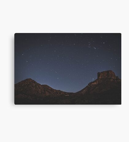The Stars at Night, Big Bend, Texas, United States Canvas Print