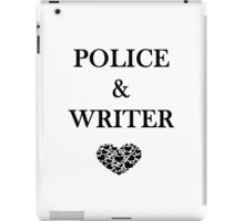 Police Writer Love iPad Case/Skin