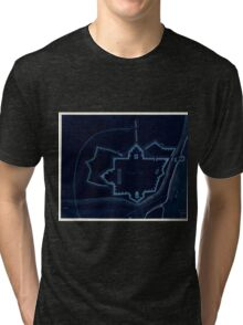 American Revolutionary War Era Maps 1750-1786 535 Fort Provost in 1782 Inverted Tri-blend T-Shirt