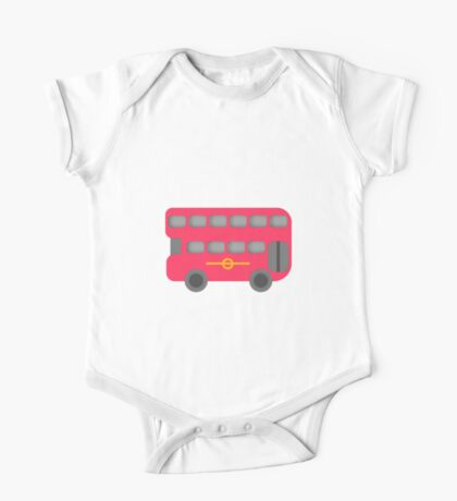 Red London Bus One Piece - Short Sleeve