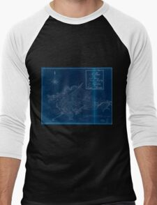 American Revolutionary War Era Maps 1750-1786 239 A plan of the land between Fort Mossy and St Augustine in the province of East Florida Inverted Men's Baseball ¾ T-Shirt