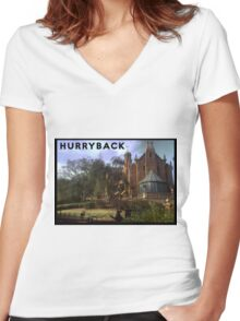 Hurry Back to the Haunted Mansion Women's Fitted V-Neck T-Shirt
