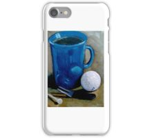 Golf Ball with Coffee Cup, Original Painting iPhone Case/Skin