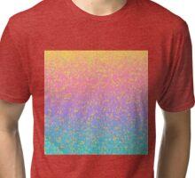 Gleaming Rainbow 10 Tri-blend T-Shirt