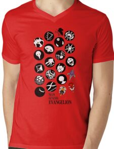 The Neon Genesis Evangelion Crew! Mens V-Neck T-Shirt