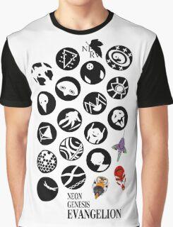 The Neon Genesis Evangelion Crew! Graphic T-Shirt