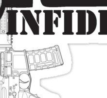 Ar-15 INFIDEL Sticker