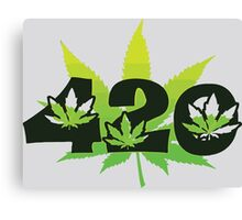 420 Weed Leafs Canvas Print