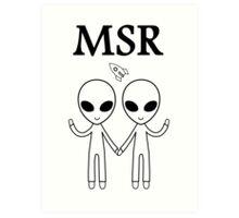 MSR X-Files Art Print
