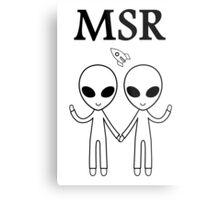 MSR X-Files Metal Print
