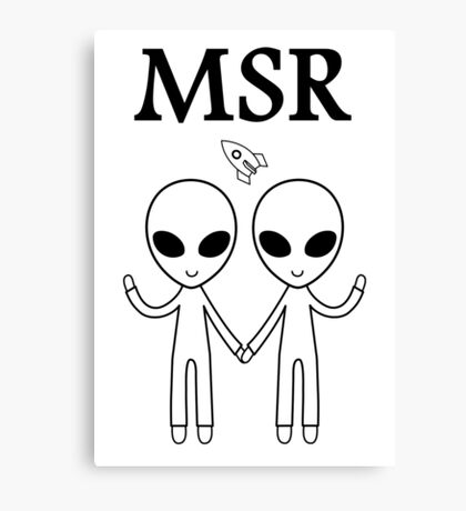 MSR X-Files Canvas Print