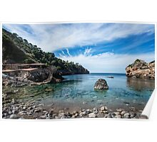 """Cala Deià Cove, as used in scenes for """"The Night Manager"""" Series on BBC Poster"""