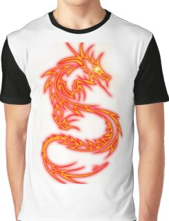 Dragon neon rouge Graphic T-Shirt