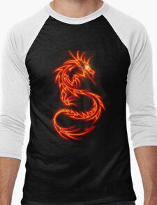 Dragon neon rouge Men's Baseball ¾ T-Shirt