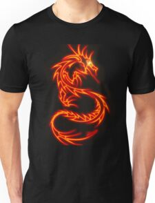 Dragon neon rouge Unisex T-Shirt