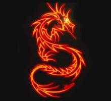 Dragon neon rouge Unisex T-Shirt