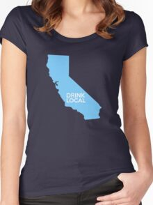 California Drink Local CA Blue Women's Fitted Scoop T-Shirt