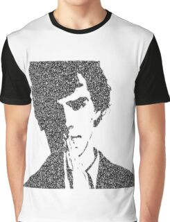 Sherlock Vector Typography Graphic T-Shirt