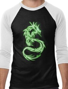 Dragon neon vert Men's Baseball ¾ T-Shirt