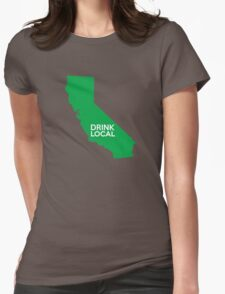 California Drink Local CA Green Womens Fitted T-Shirt