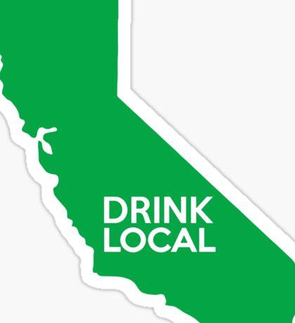 California Drink Local CA Green Sticker