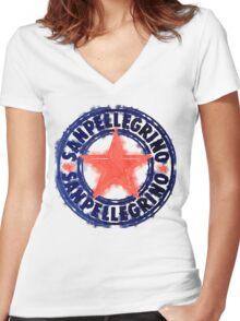 San Pellegrino T Shirt Women's Fitted V-Neck T-Shirt