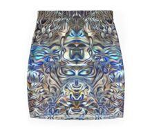 monkey see monkey blue_3 Mini Skirt