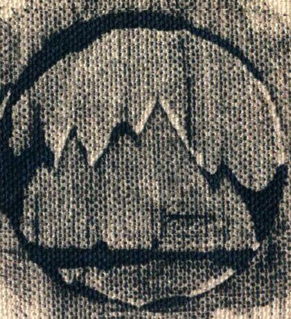 Black Mountain Print/Stamp Design  Sticker