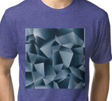 Deep Blue Geometric Pattern Tri-blend T-Shirt