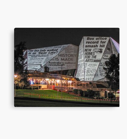 Adelaide Festival Centre - Video Projection Canvas Print