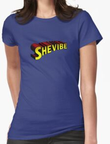 SheVibe Superman Style Logo Womens Fitted T-Shirt