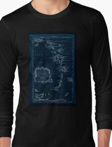 American Revolutionary War Era Maps 1750-1786 085 A map of the Caribbee Islands  shewing which belong to England France Spain Dutch & Danes collected from the Inverted Long Sleeve T-Shirt