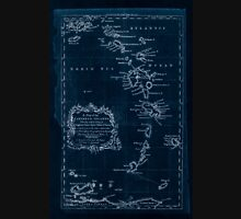 American Revolutionary War Era Maps 1750-1786 085 A map of the Caribbee Islands  shewing which belong to England France Spain Dutch & Danes collected from the Inverted Unisex T-Shirt