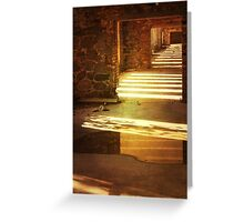 Golden silence in abandoned factory. Greeting Card