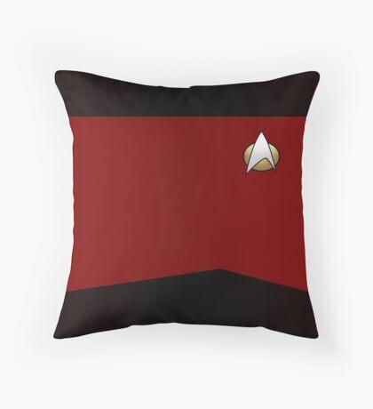 Star Trek TNG Uniform (Red) Throw Pillow