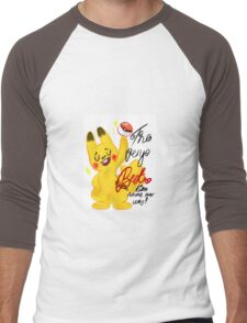 "Pokémon - Pikachu ""The very best like no one ever was"" cute design Men's Baseball ¾ T-Shirt"